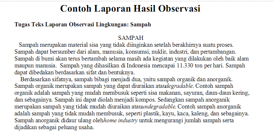 Contoh Soal Bahasa Indonesia Kelas 6 Sd Semester 2 Ruang Seni